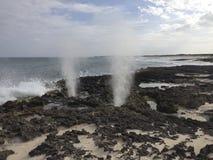 Soufflures de plage dans Cozumel Image libre de droits