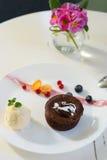 Souflfe del cioccolato Fotografia Stock Libera da Diritti