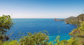 Soufriere bay - Petit Piton area - Saint Lucia. Soufriere bay - Petit Piton area - Caribbean island - Saint Lucia royalty free stock photos