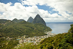 Soufriere, st lucia Stock Images