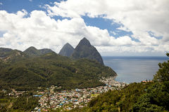 Soufriere, st lucia Royalty Free Stock Photo