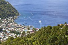 Soufriere in St Lucia, Carribean Royalty Free Stock Photo