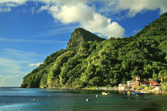 Soufriere village Stock Photography