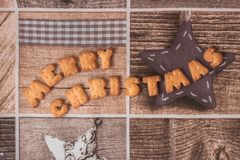 Souhait de Joyeux Noël dans le rétro style photos libres de droits
