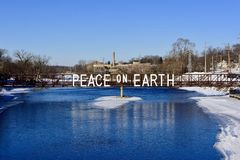 Souhait de vacances sur la rivière de Fox images stock