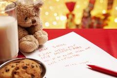 Souhait honnête de Noël d'enfant image libre de droits