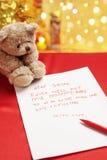 Souhait vrai d'enfant sur Noël photographie stock libre de droits