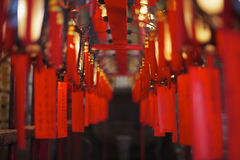 Souhaits à l'homme Mo Temple, Hong Kong Image stock