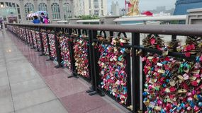 Souhaits de cadenas pour à des couples Photos libres de droits