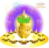 Souhaits de Diwali Photographie stock