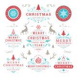 Souhaits de Joyeux Noël et d'an neuf heureux Photos stock