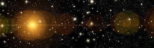 Souhaits de Noël, arc avec des étoiles, fond Photo stock