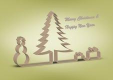 Souhaits de Noël et d'an neuf Photographie stock libre de droits