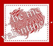souhaits de valentine Photos libres de droits