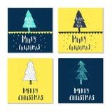 Souhaits manuscrits merveilleux et uniques de Noël Photographie stock