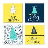 Souhaits manuscrits merveilleux et uniques de Noël Photo stock