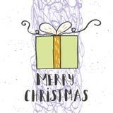 Souhaits manuscrits merveilleux et uniques de Noël Photos libres de droits
