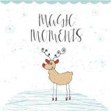 Souhaits manuscrits merveilleux et uniques de Noël Photos stock