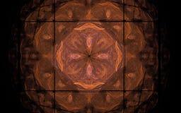 Souillé avec un modèle orange Photo libre de droits