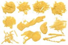 Souillure 2 de moutarde photographie stock libre de droits