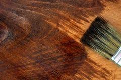 Souillure de la surface en bois Concept de décoration à la maison photographie stock libre de droits