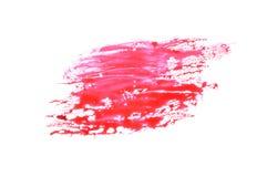Souillure rouge photo stock