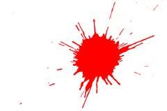 Souillure rouge photographie stock libre de droits