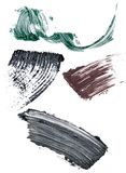Souillures de mascara image stock