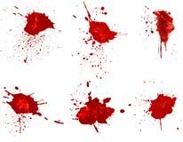 Souillures de sang Photos libres de droits
