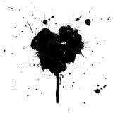 Souillures en forme de coeur d'encre d'isolement illustration de vecteur