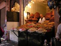 Souk在马拉喀什在Marocco 免版税库存图片
