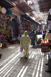 Souk在马拉喀什 免版税库存图片