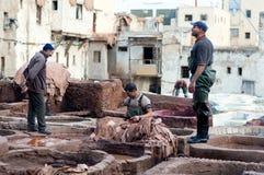 Souk дубильни в Fez, Марокко Стоковые Фотографии RF