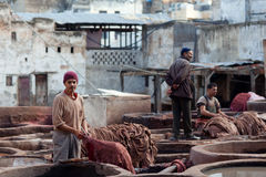 Souk дубильни, Марокко Стоковое фото RF