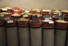 Souk In Abu Dhabi, UAE. Traditional herbs and spices in a souk in Abu Dhabi, UAE royalty free stock photo