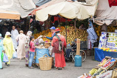 Souk - city market in Agadir. Stock Image