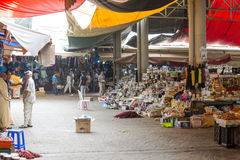 Souk - city market in Agadir. Royalty Free Stock Images