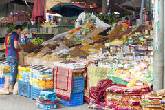 Souk - city market in Agadir. Stock Images