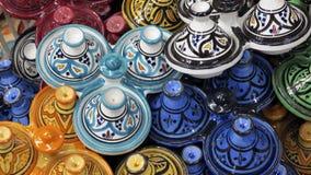 Souk decorato di Medina dei piatti immagine stock libera da diritti