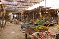 Souk del mercado central de Erfoud foto de archivo