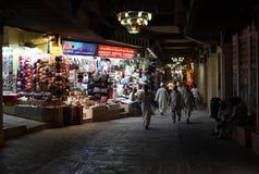 Souk in der Muskatellertraube nachts, Oman Lizenzfreie Stockfotografie