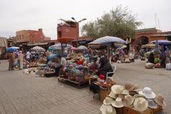 Souk Jemaa EL-Fnaa Marrakesch in Marokko, Afrika Lizenzfreie Stockfotos