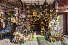 Souk lamps in Marrakesh, Morocco Stock Photography
