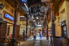 Souk Madinat Jumeirah en Dubai imagen de archivo libre de regalías