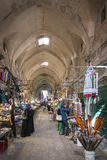 Souk market street in palestinian old town of jerusalem israel. Traditional souk market shopping street in palestinian area of jerusalem old town israel Royalty Free Stock Image