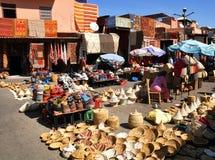 Souk in Marrakesch Stockfotos