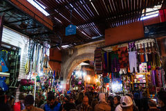 In a souk of Marrakesh. In a souk of the UNESCO protected old town of Marrakesh, Morocco, with unidentified people Stock Photography
