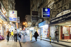Souk shopping street in central manama city bahrain Stock Image