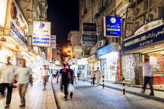 Souk shopping street in central manama city bahrain Royalty Free Stock Photo