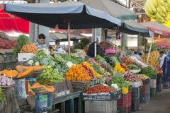 Souk - stadsmarkt in Agadir stock foto's